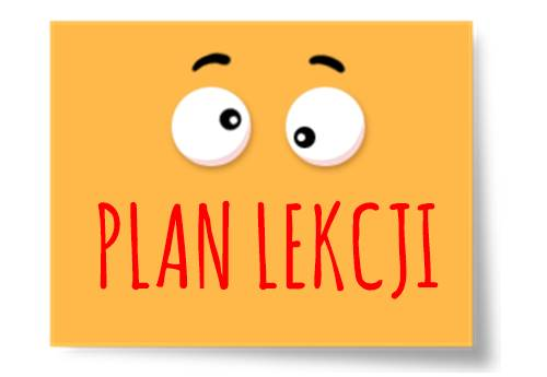 Plan lekcji – 2 września 2019