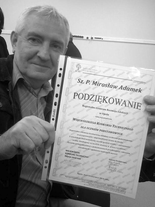 Wspomnienia wychowanków Pana Mirosława Adamka