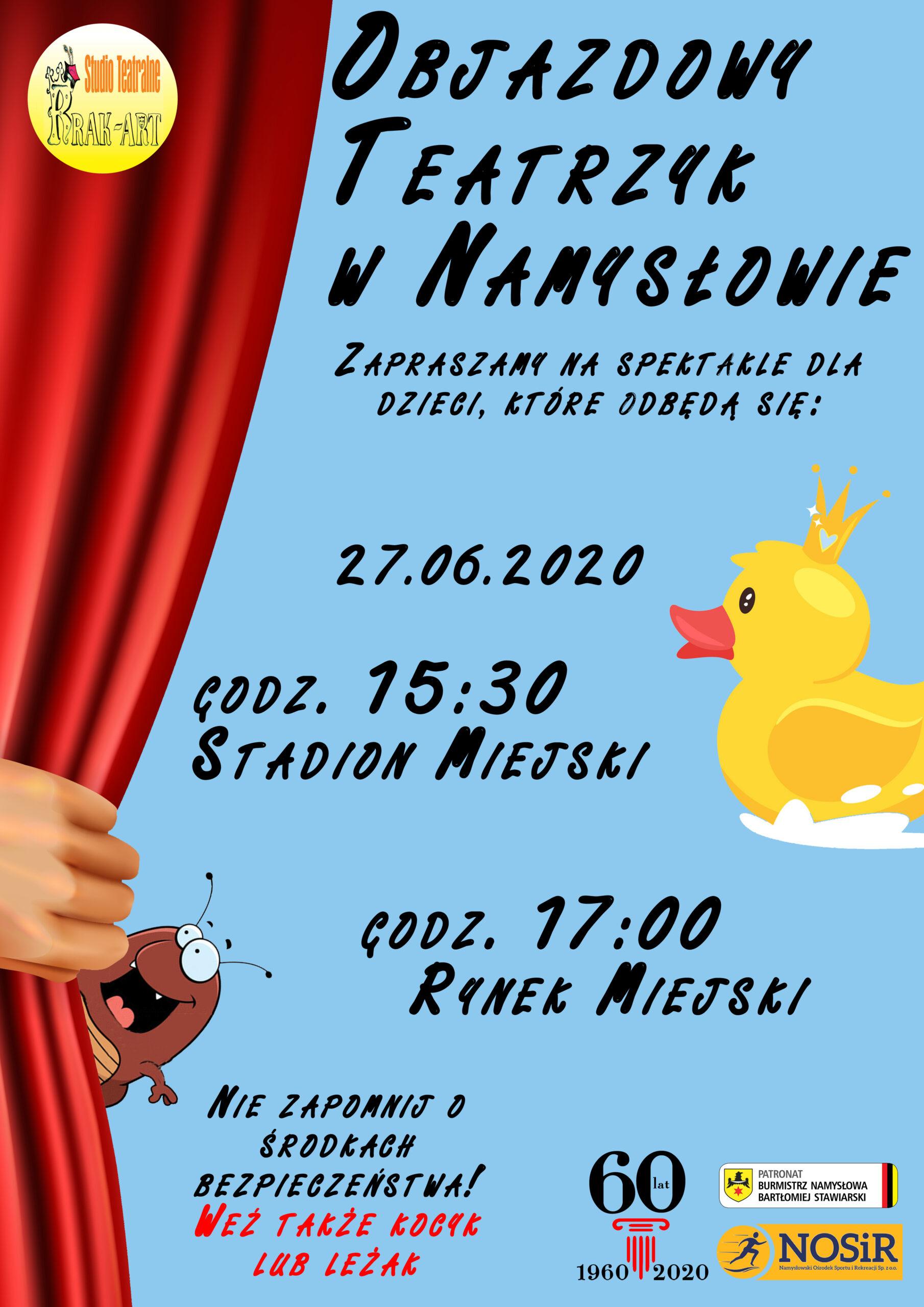 Objazdowy teatrzyk w Namysłowie