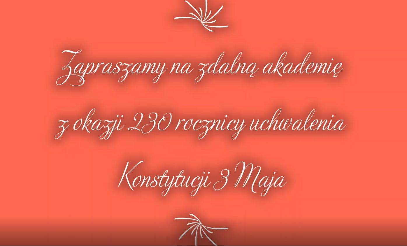 Akademia z okazji 230 rocznicy uchwalenia Konstytucji 3 Maja